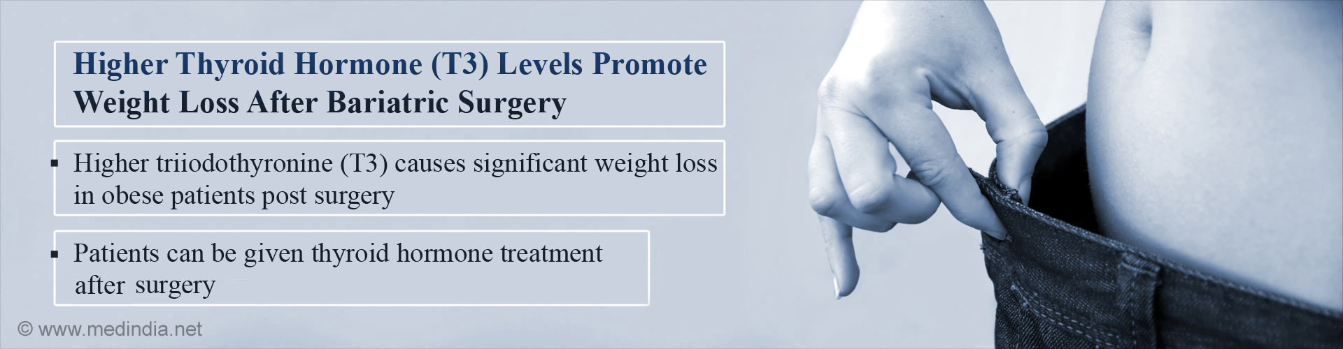 Higher Thyroid Hormone Levels (T3) Promote Weight Loss After Bariatric Surgery 