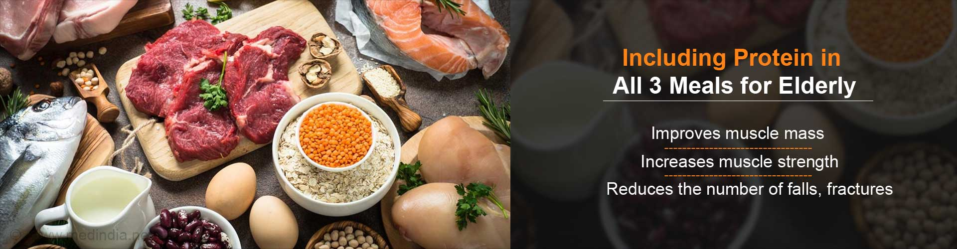 Power Up All Three Meals With Protein To Improve Muscle Mass in Seniors