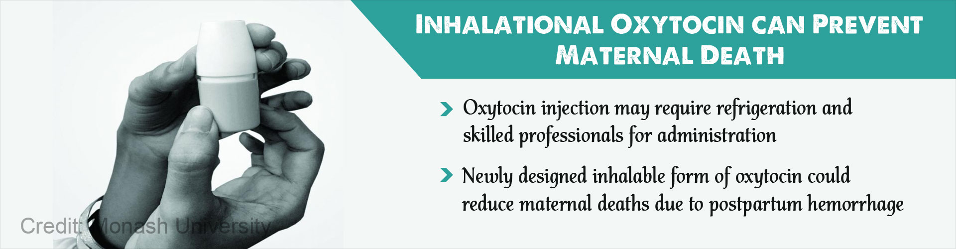 Inhalational oxytocin can prevent maternal death
