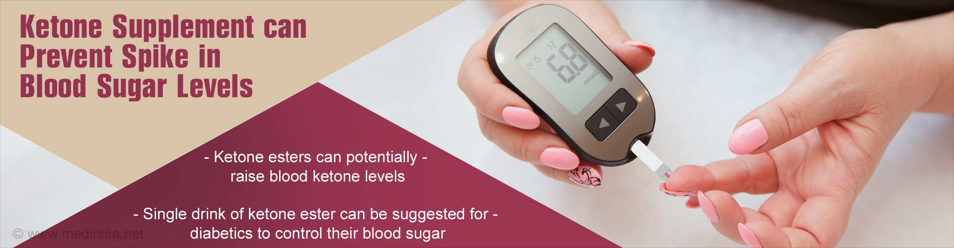 Ketone Drink Can Help Control Sudden Spikes in Blood Sugar Levels