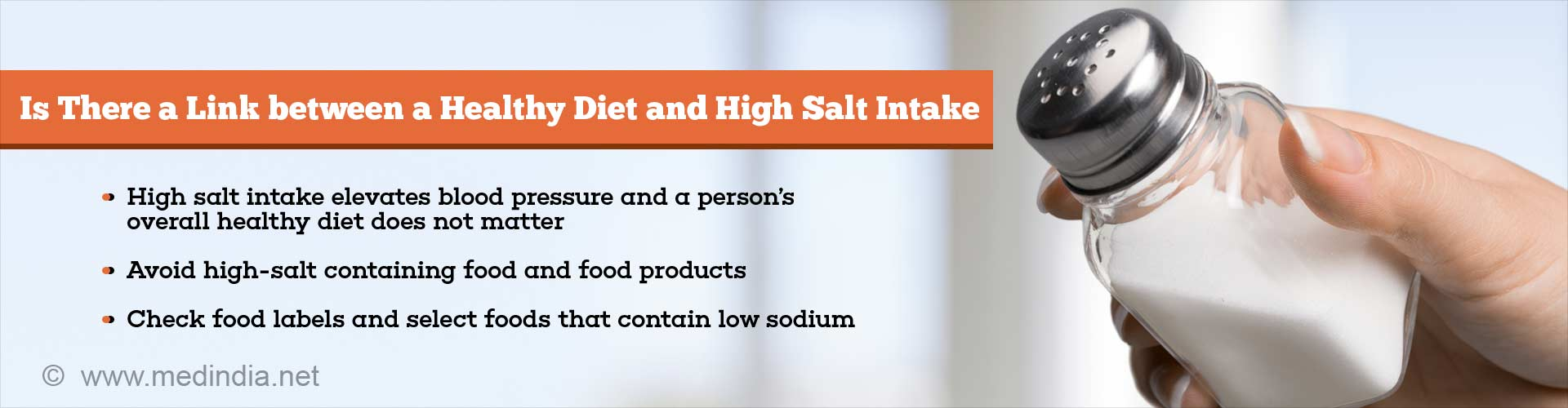 Healthy Diet is of No Use, If Your Diet is High in Salt