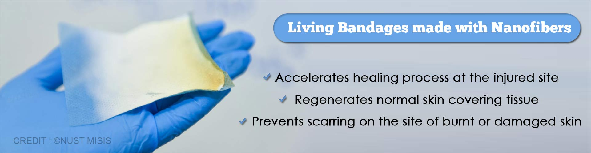 living bandages made with nanofibers