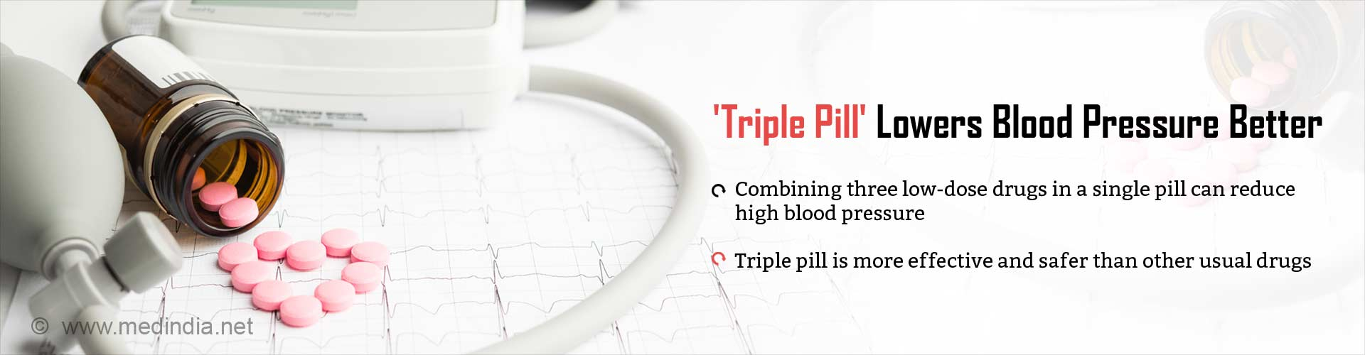 Low-dose 'Triple Pill' Helps Lower Blood Pressure Better