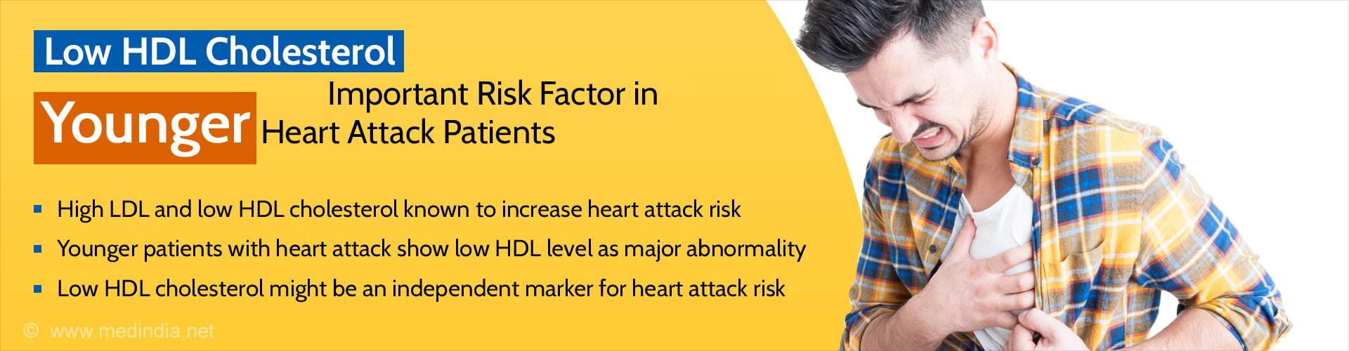 Low HDL Cholesterol important risk factor for younger heart attack patients