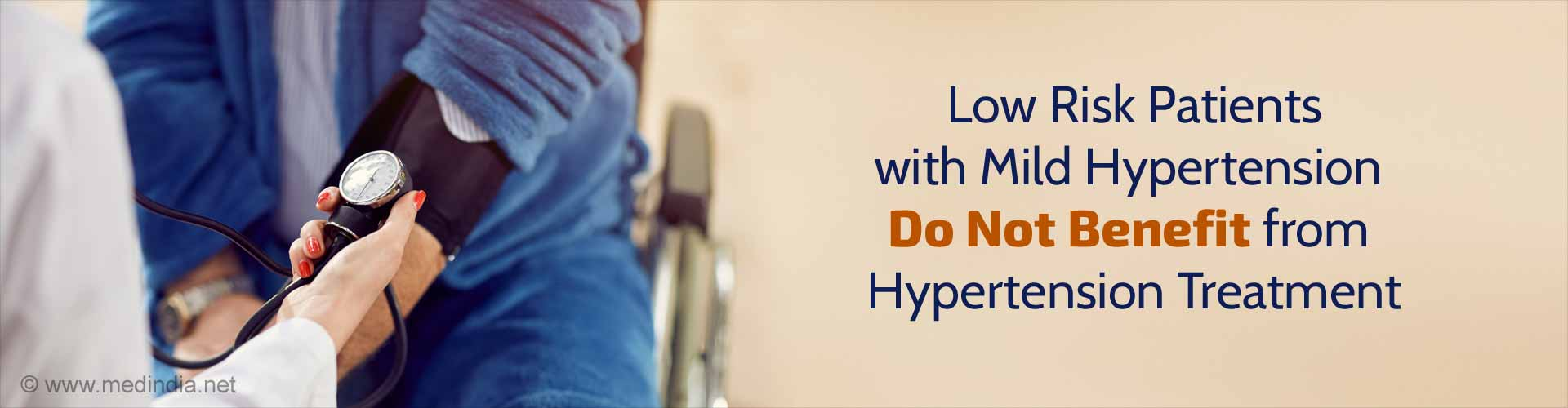 Low risk patients with mild hypertension do not benefit from hypertension treatment.