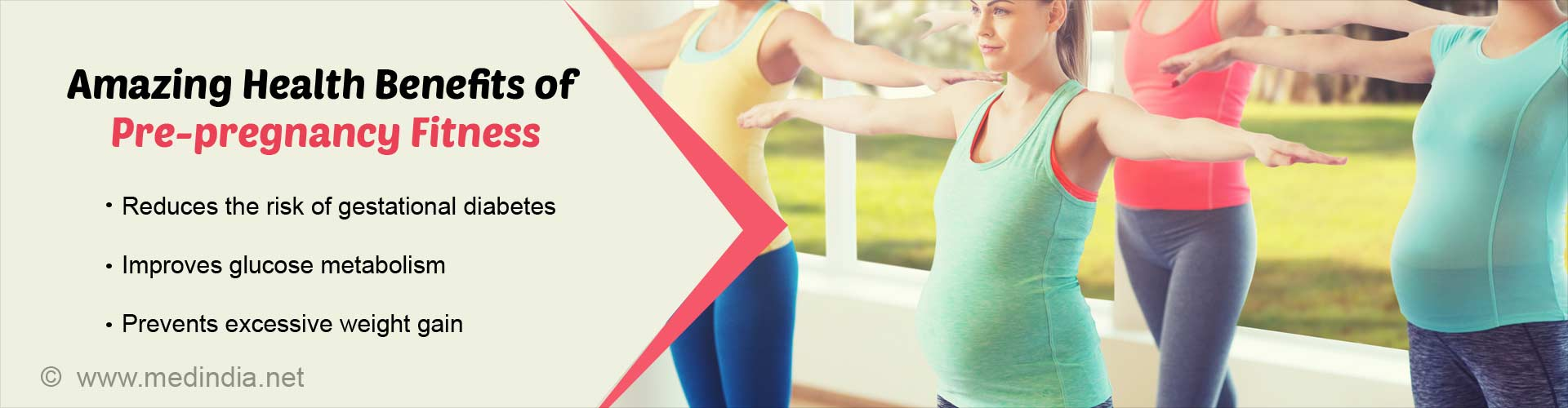 Amazing health benefits of pre-pregnancy fitness - reduces the risk of gestational diabetes - improves glucose metabolism - prevents excessive weight gain