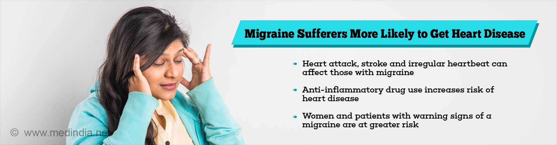 migraine sufferers more likely to get heart disease
