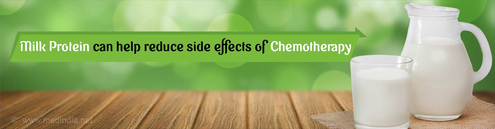 Milk protein can help reduce side effects of chemotherapy.