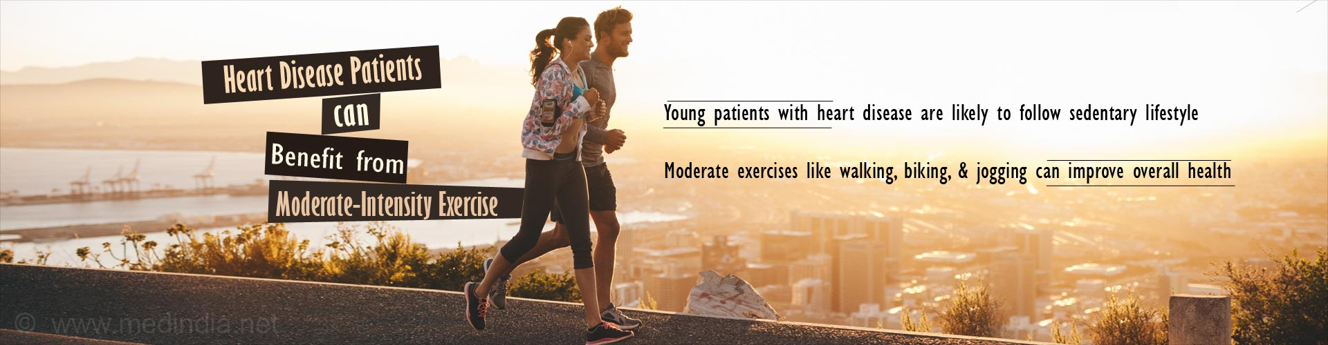 heart disease patients can benefit from moderate-intensity exercise