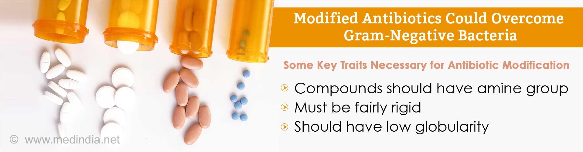 Modified Antibiotics to Combat Gram-Negative Bacterial Defenses