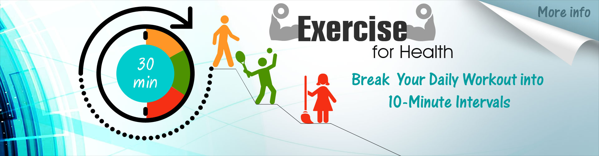 Exercise for Health - Break Your Daily Workouts into 10-minute Intervals