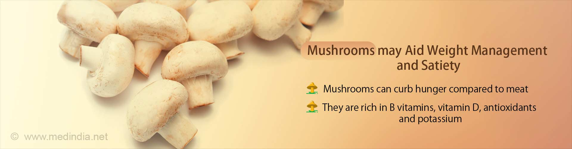 Mushrooms can be as Satiating as Meat