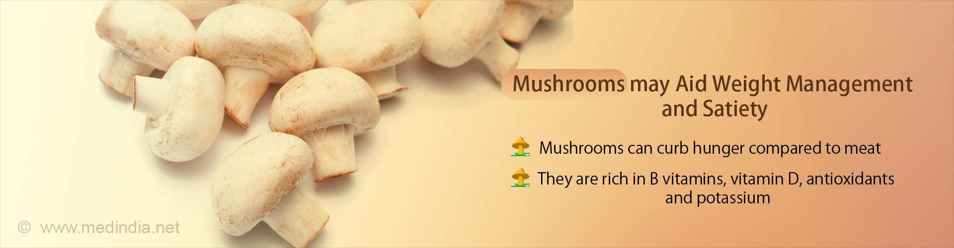 Mushrooms can be as Satiating as Meat