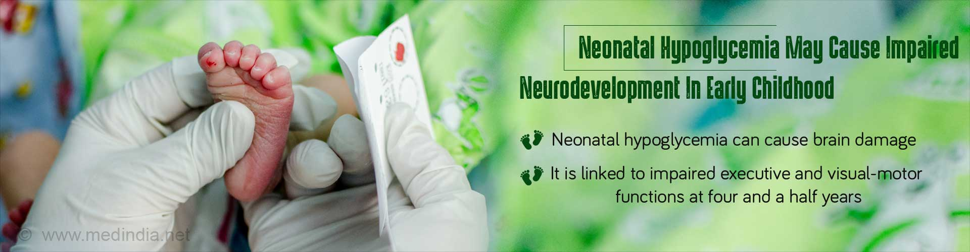 Neurodevelopmental Defects In Early Childhood Due To Neonatal Hypoglycemia â€