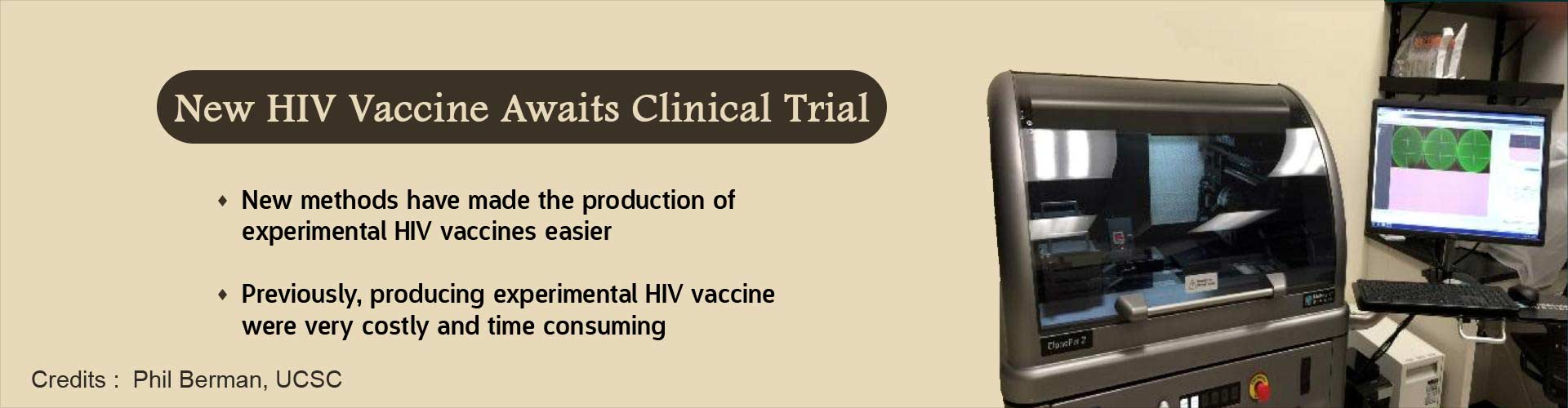 New HIV Vaccine Awaits Clinical Trial