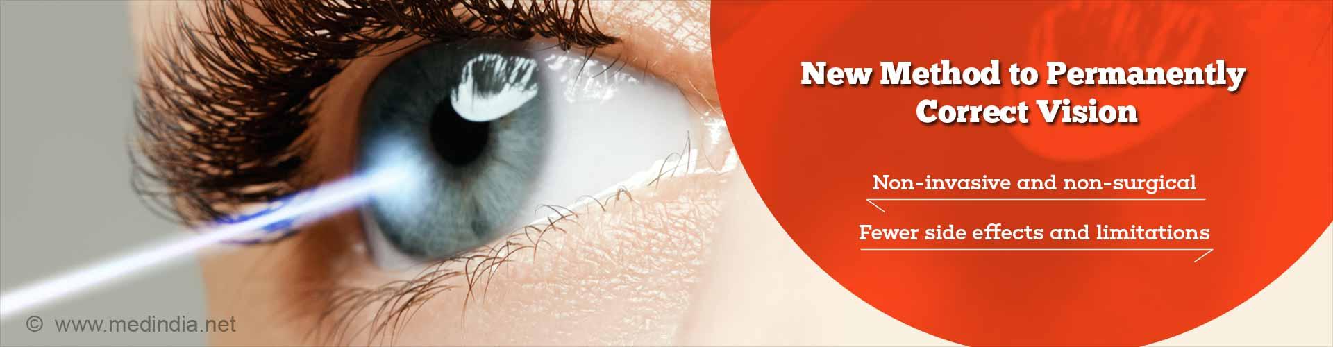 Non-invasive Technique to Correct Vision