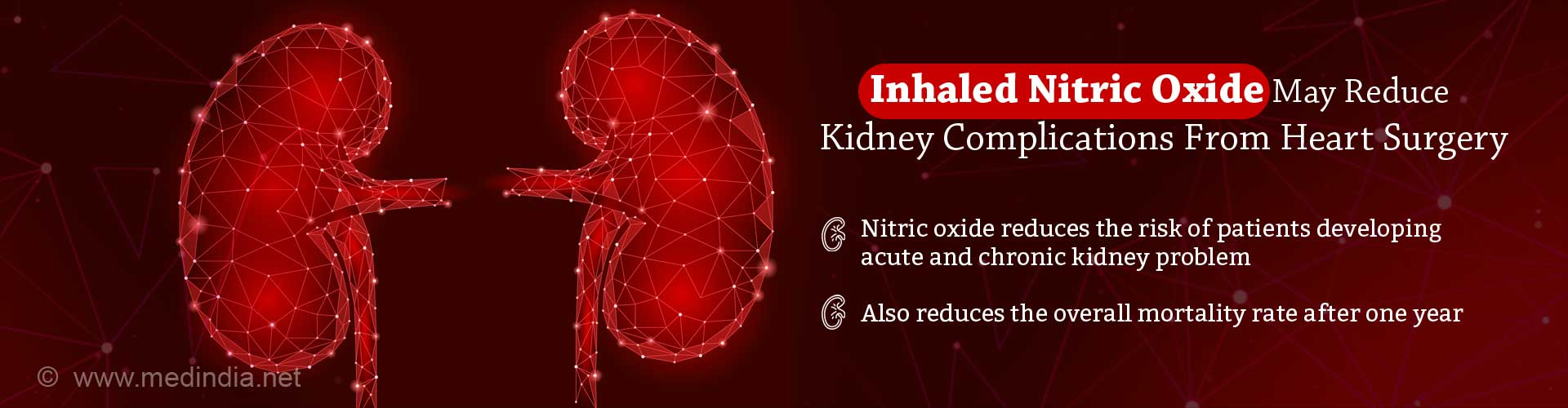 Nitric Oxide Lowers Risk of Kidney Complications from Heart Surgery