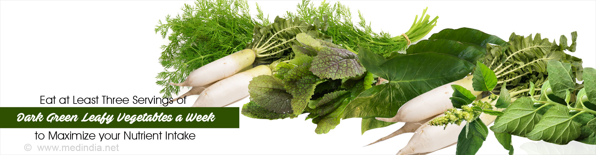 Eat Atleast Three Servings of Dark Green Leafy Vegetables a Week to Maximize Your Nutrient Intake