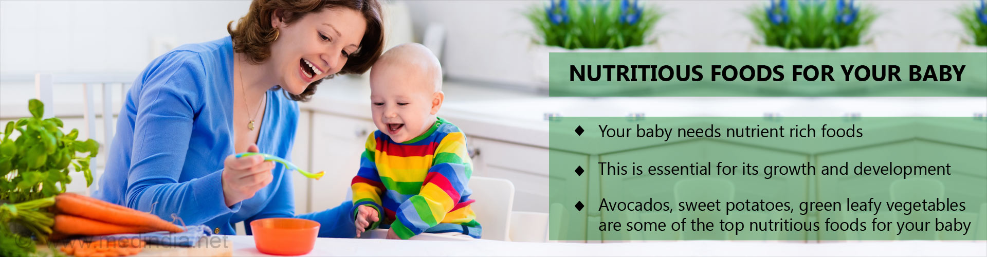 Nutritious foods for your baby