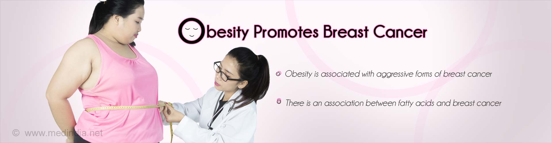 Obesity promotes breast cancer - Obesity is associated with aggressive forms of breast cancer - There is an association between fatty acids and breast cancer