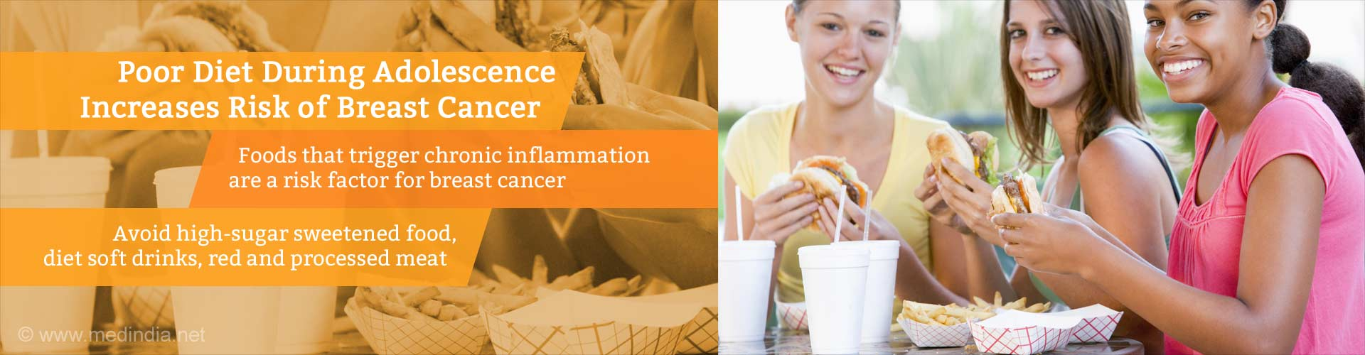 Poor Adolescent Diet Choices Increase Risk of Breast Cancer
