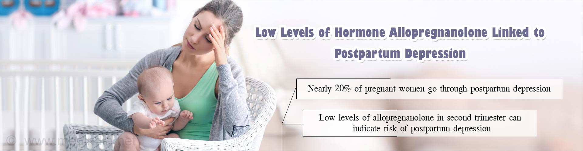 Postpartum Depression Likely In Women With Low Anti-Anxiety Hormone