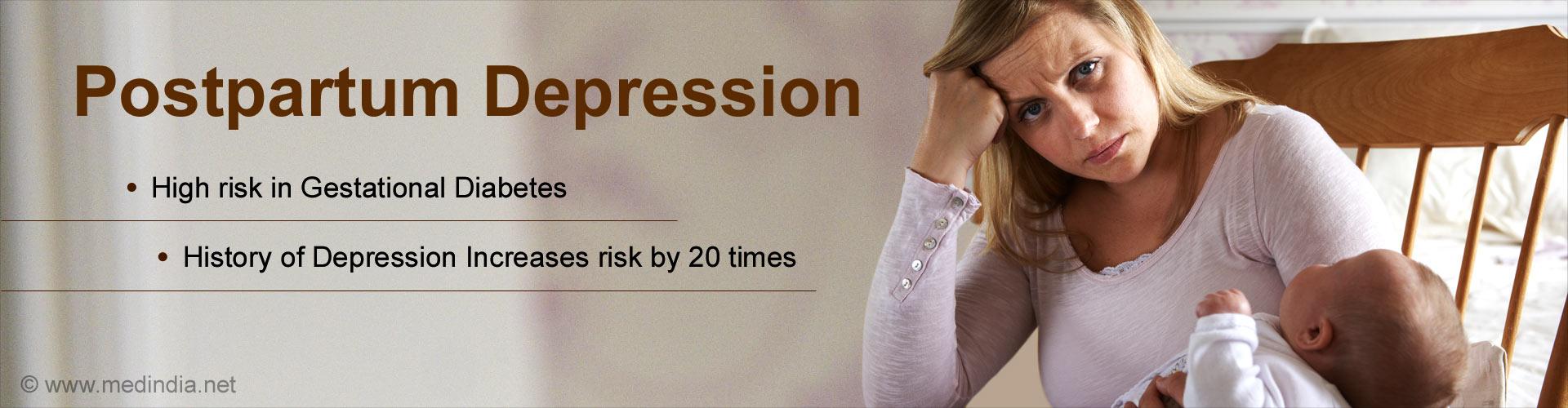 Gestational Diabetes Increases Postpartum Depression Risk