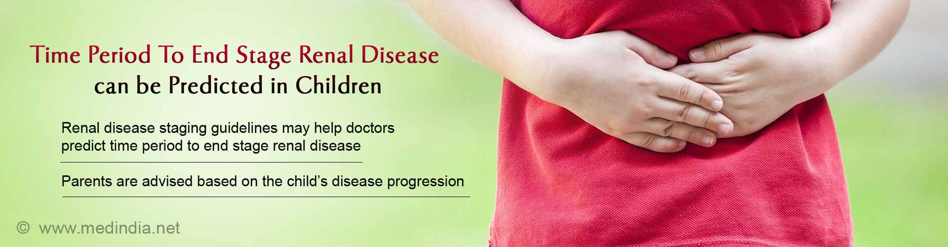 Predicting Time Period To End Stage Renal Disease In Children With Kidney Disease