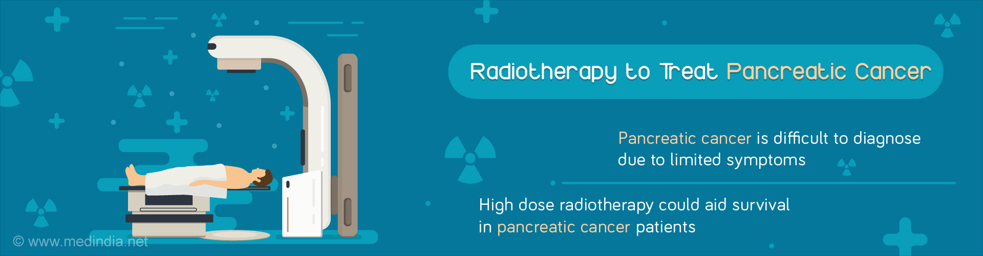 Radiotherapy to Treat Pancreatic Cancer - Pancreatic cancer is difficult to diagnose due to limited symptoms - High dose radiotherapy could aid survival in pancreatic cancer patients