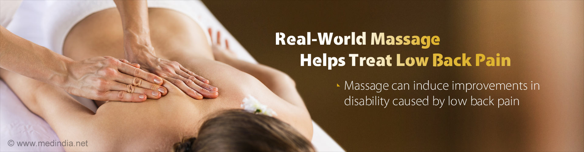 Real-World Massage Helps Treat Low Back Pain - Massage can induce improvements in disability caused by low back pain