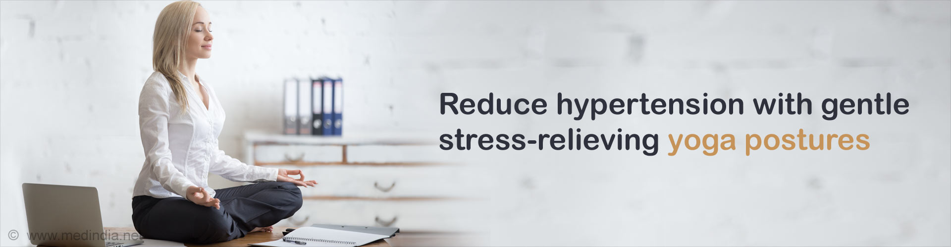 Reduce hypertension with gentle stress-relieving yoga postures