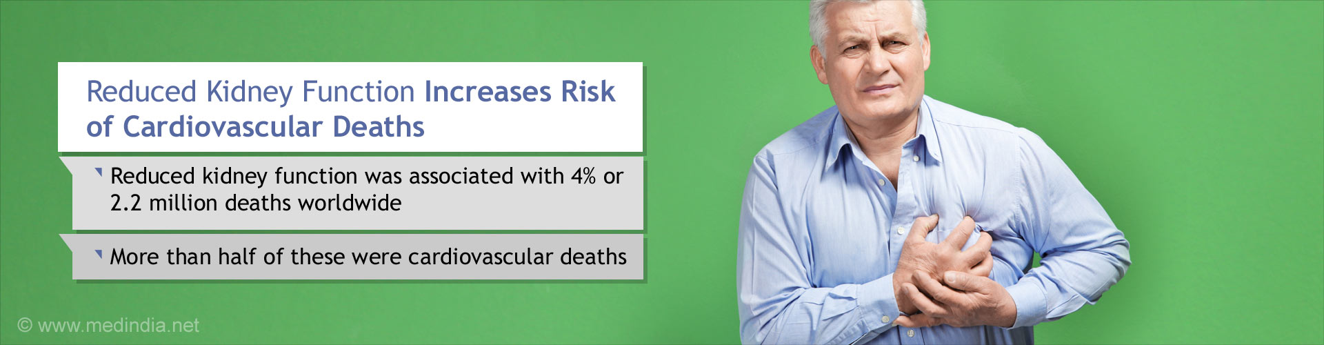 Kidney Diseases Increase Risk of Cardiovascular Deaths