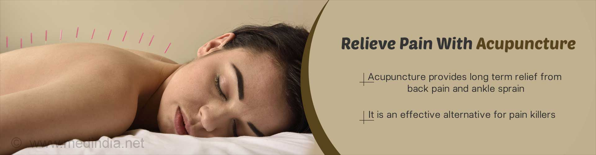 Relieve pain with acupuncture - Acupuncture provides long time relief from back pain and ankle sprain - It is an effective alternative for pain killers