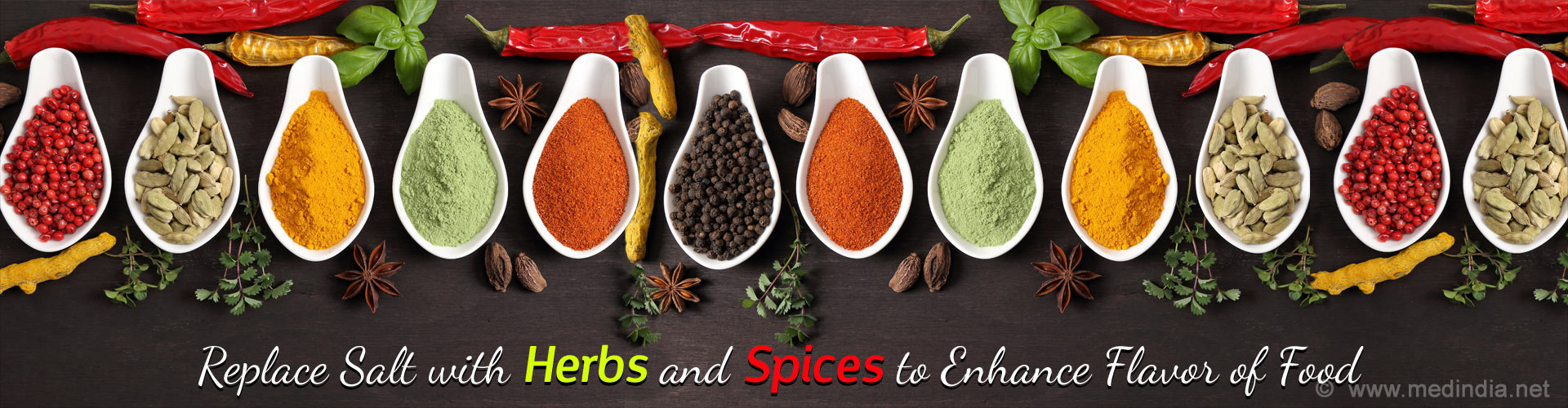 Replace Salt with Herbs and Spices to Enhance Flavor of Food