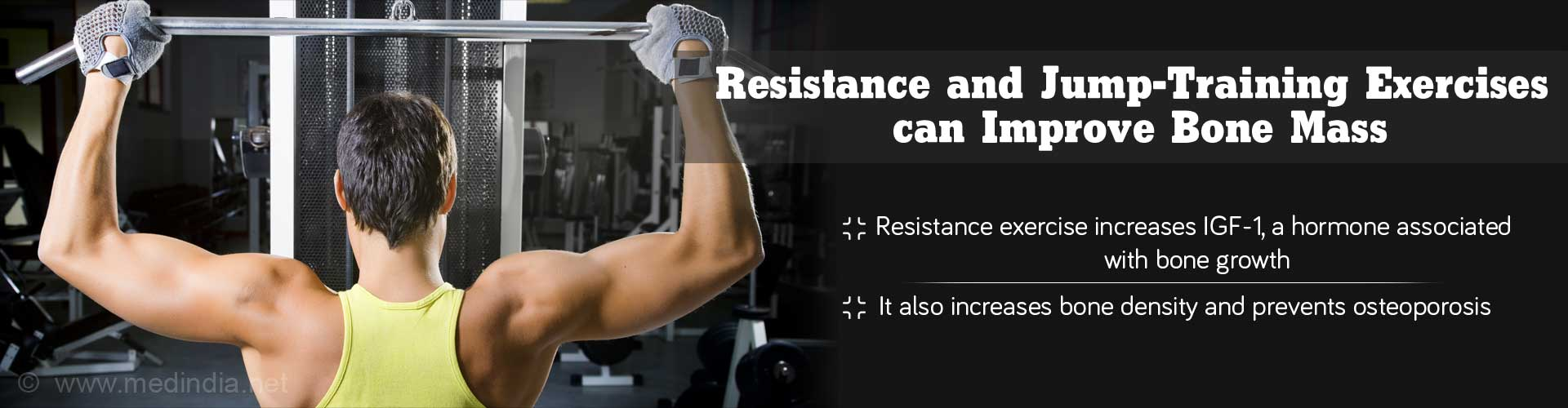 resistance and jump-training exercises can improve bone mass