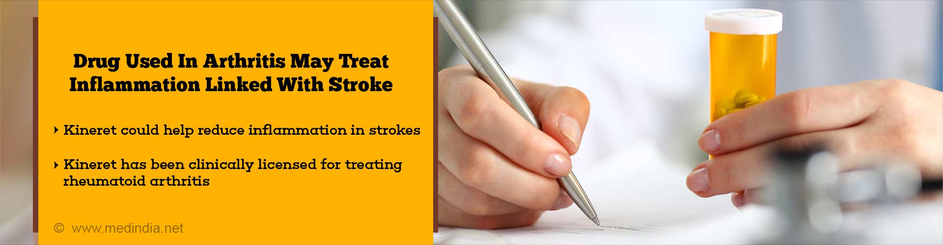 drug used in arthritis may treat inflammation linked with stroke