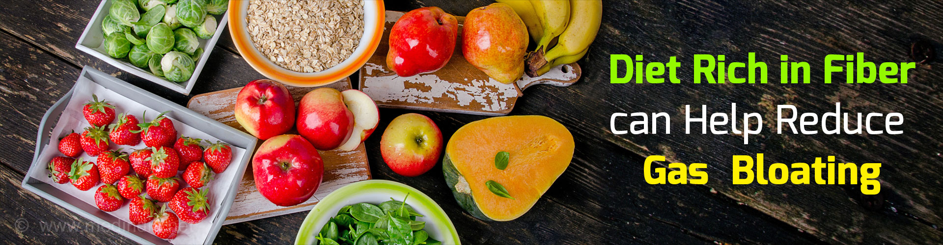 Diet Rich in Fiber can Help Reduce Gas Bloating