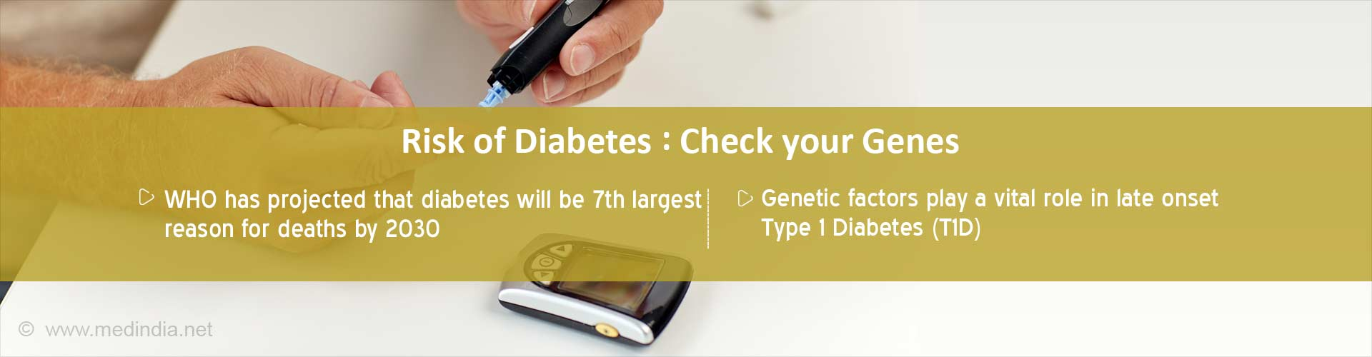 Risk of diabetes: Check you genes