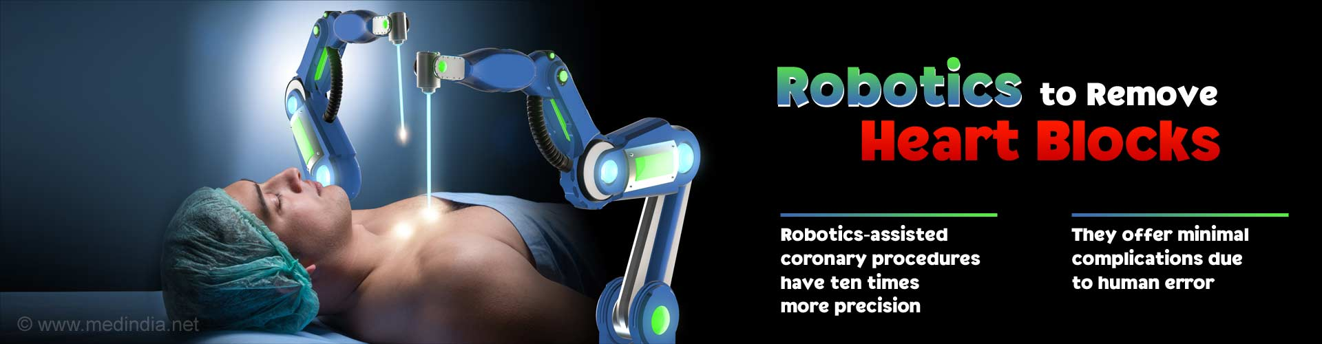 robotics to remove heart blocks