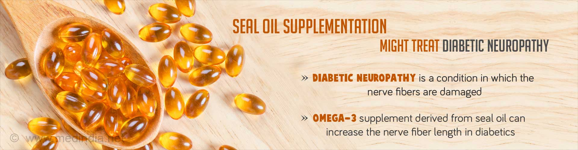 Diabetic Patients With Nerve Damage can Resort to Seal Oil Supplements