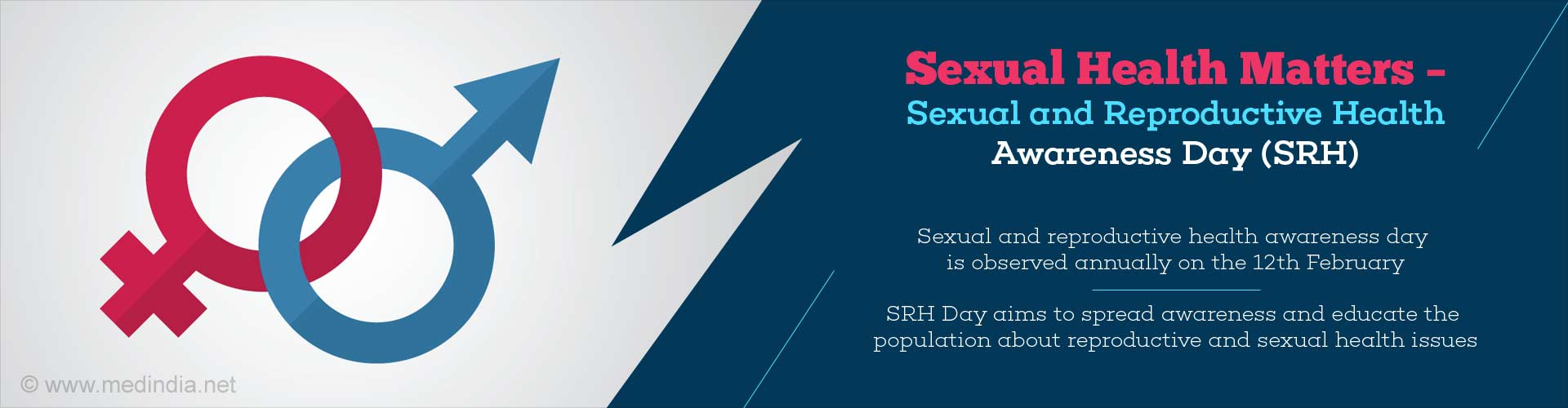 sexual health matters - sexual and reproductive health awareness day (SRH) - sexual and reproductive health awareness day is observed annually on 12th February - SRH day aims to spread awareness and educate the population about reproductive ans sexual health issues