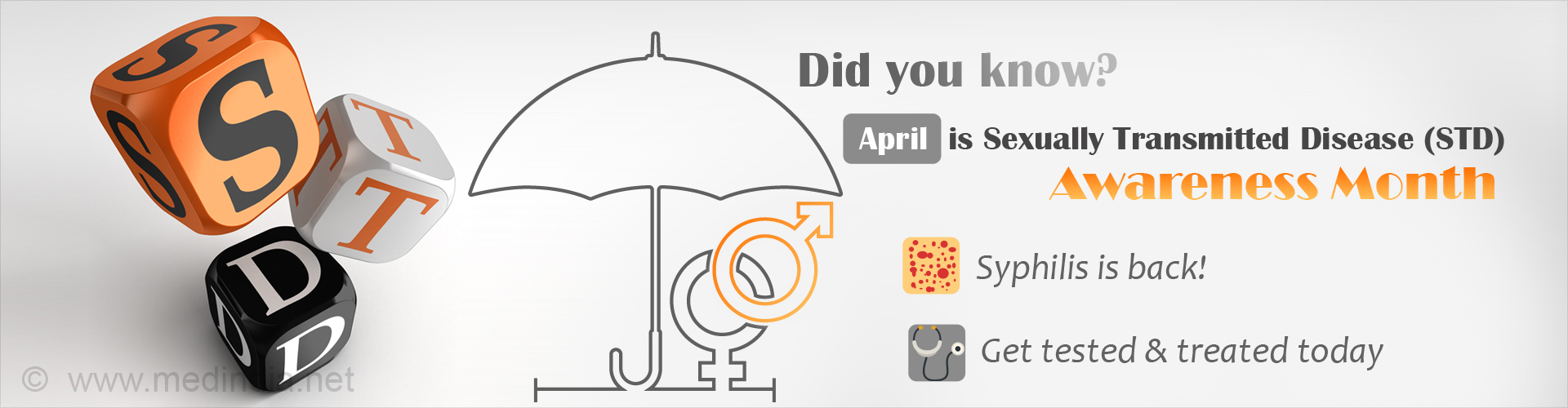 Did you know? April is sexually transmitted disease (std) awareness month - Syphilis is back - Get tested and treated today