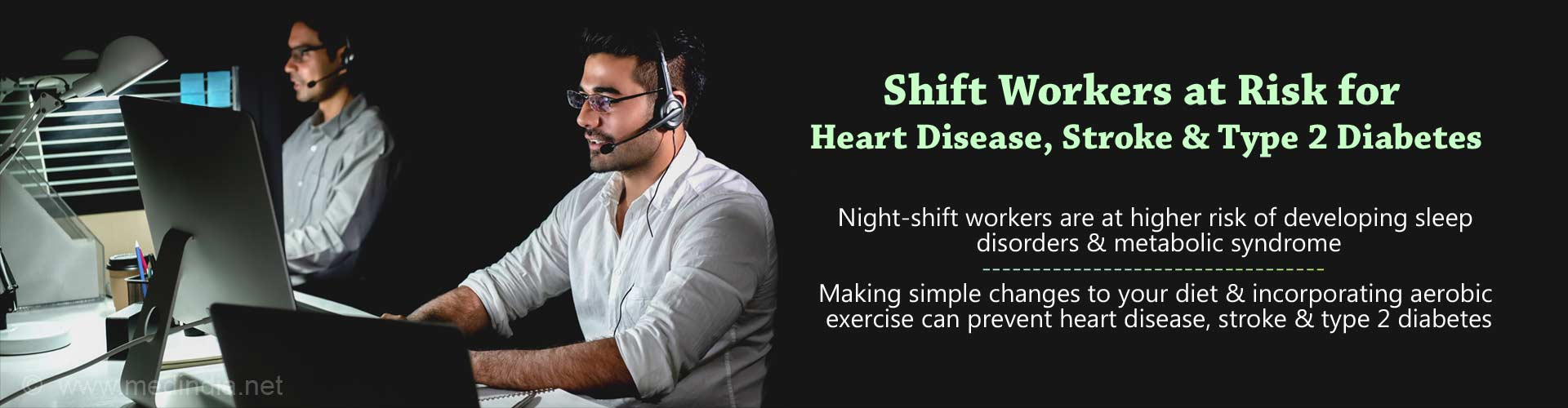 Night Shift Workers at Risk for Heart Disease, Stroke and Diabetes