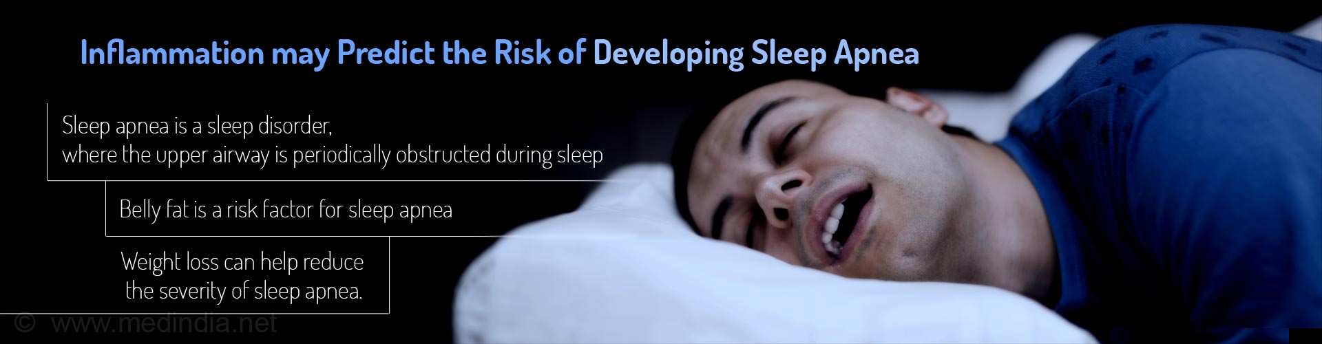 Inflammation may predict the risk of developing sleep apnea