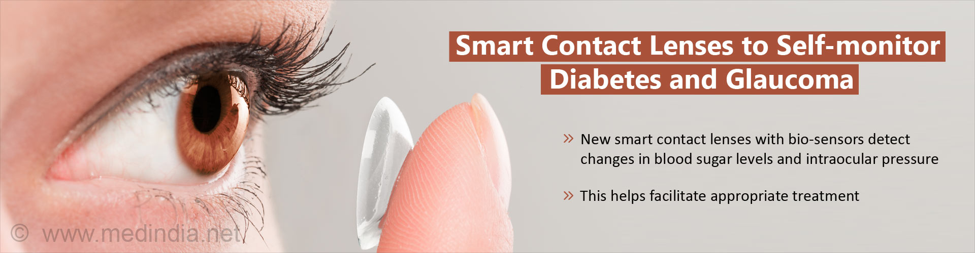 Smart contact lenses to self-monitor diabetes and glaucoma