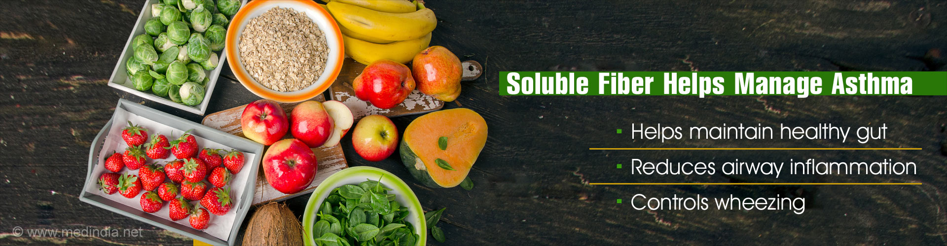 Soluble fiber helps manage asthma