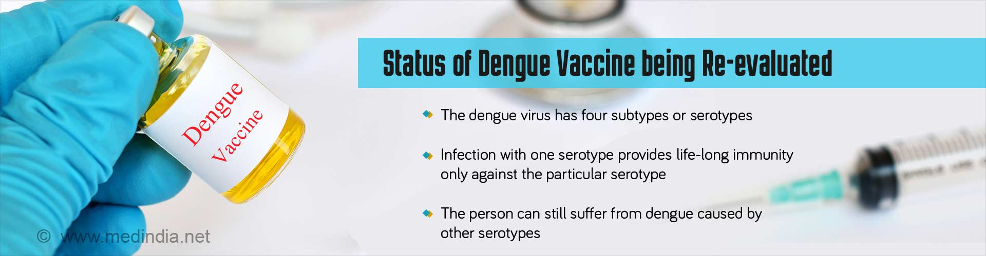 Status of dengue vaccine being re-evaluated