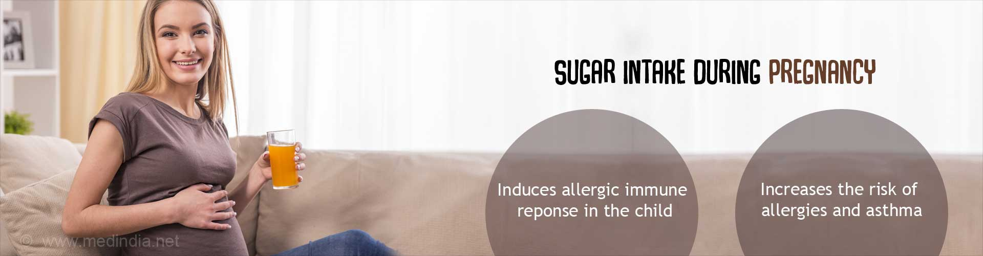 Sugar Intake During Pregnancy - Induces allergic immune response in the child - Increases the risk of allergies and asthma