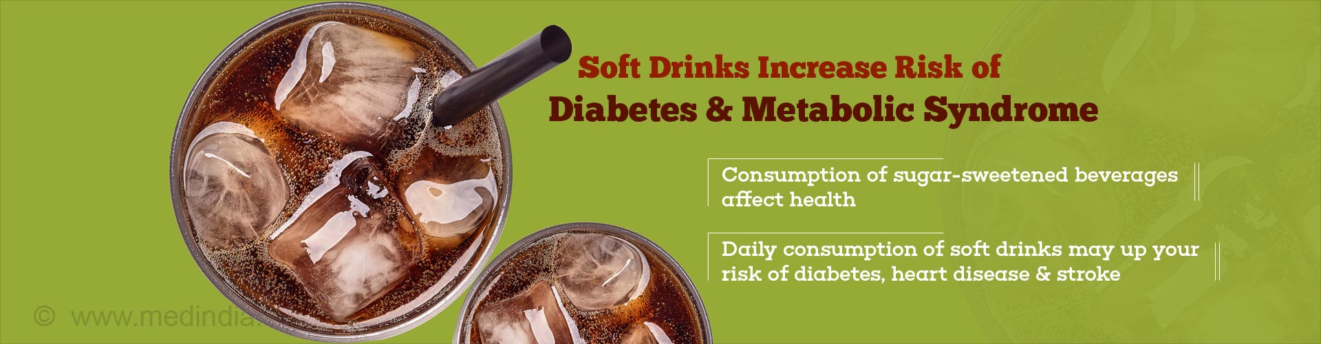 Soft drinks increase risk of diabetes & metabolic syndrome