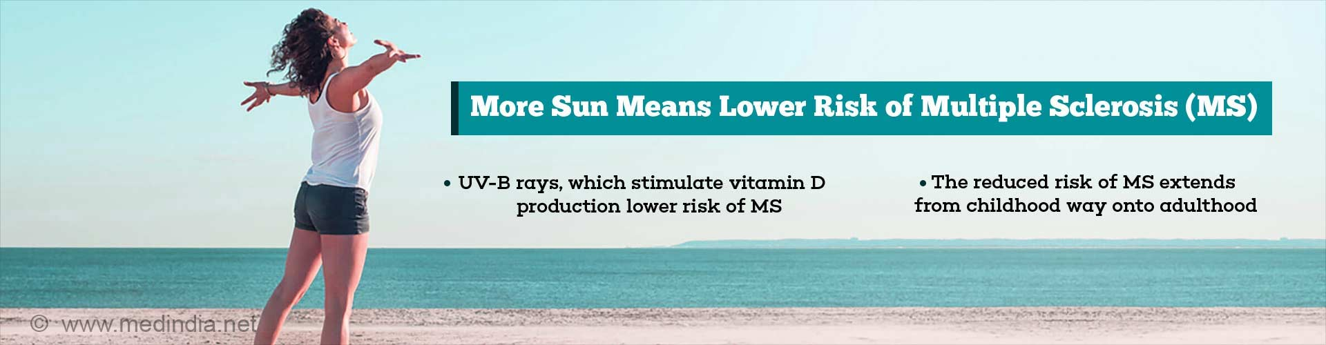 More Summer Sun may Mean Lower Risk of Multiple Sclerosis